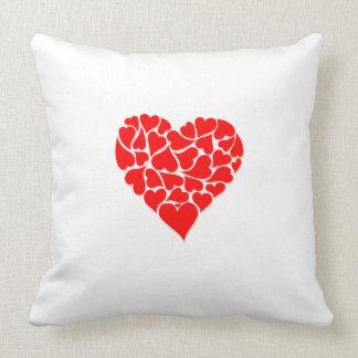 Heart Motif Throw Pillow Throw Cushion
