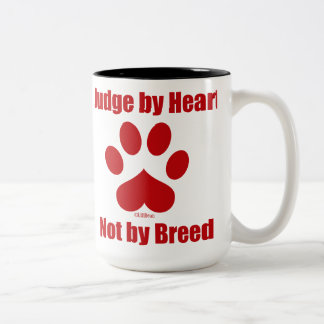 Heart Not Breed Two-Tone Coffee Mug