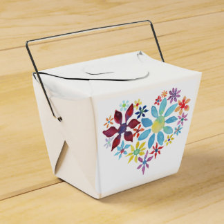 Heart of Flowers Favour Box