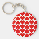 Heart of Love Basic Round Button Key Ring