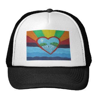 Heart Of Peace Mesh Hats