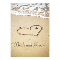 Heart on the Shore 13 Cm X 18 Cm Invitation Card