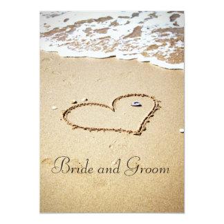 Heart on the Shore 13 Cm X 18 Cm Invitation Card