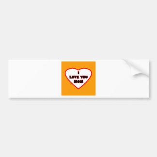 Heart Orange Bright Transp Filled The MUSEUM Zazzl Bumper Sticker