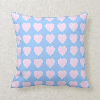 Heart Pattern Pink Blue Cushion