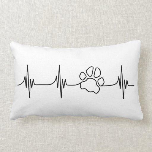 Heart-PAW-Beat Throw Pillow