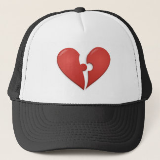Heart Puzzle Trucker Hat