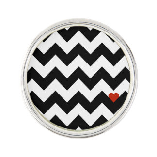 Heart & Rafter - Red Black/Traditional Lapel Pin