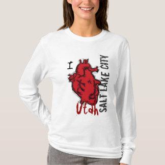 Heart Salt Lake City Utah ladies hoodie