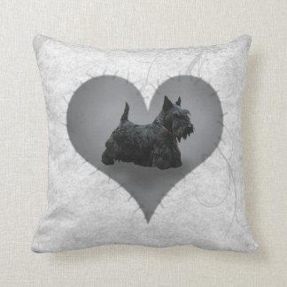 Heart Scottie Pillow