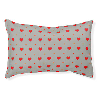 Heart seamless pattern pet bed