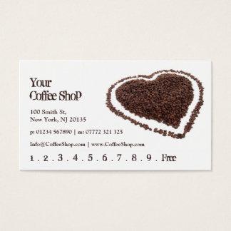 Heart Shaped Coffee Bean Photo - Punch Card