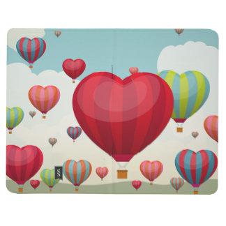 Heart-Shaped Hot Air Balloons Journals