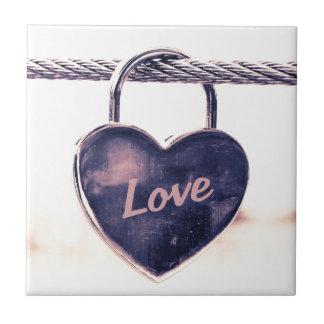 Heart shaped love padlock ceramic tiles