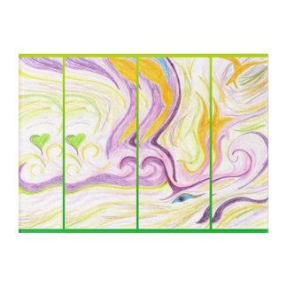 Heart Spirit Wall Art Green Mutlicolour