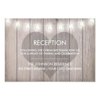 Heart Stained Reception Card