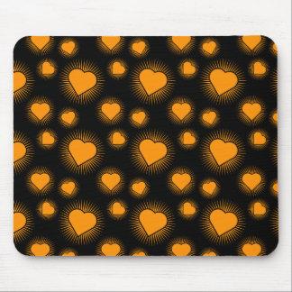 Heart Starburst 3 Orange Mousepad