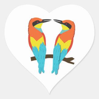 Heart Stickers LOVE BIRDS