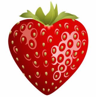 Heart Strawberry Magnet Photo Sculpture