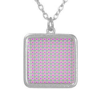 Heart SweetHeart Pink Collection gifts Square Pendant Necklace