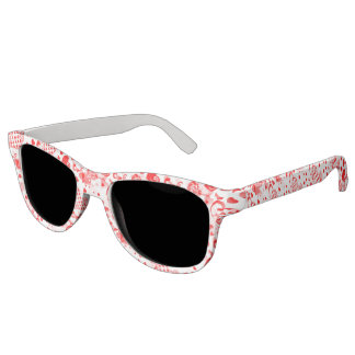 Heart Tattoo seamless pattern + your ideas Sunglasses