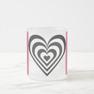 Heart Theme Pink Zebra Mug