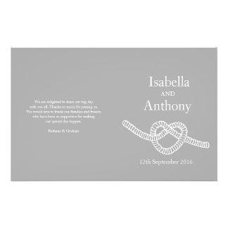 Heart tie the knot wedding programs custom flyer
