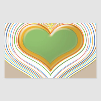 Heart to Heart  -  Heartthrobs Rectangle Stickers