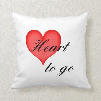 heart tons go black throw cushions