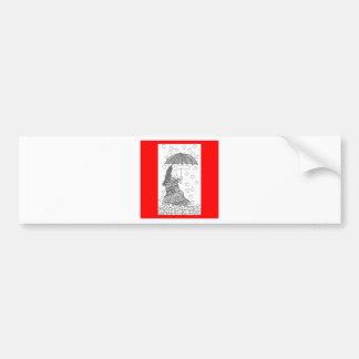 heart umbrella bumper stickers