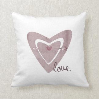 Heart with Arrow Throw Pillow