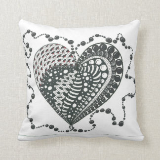 Heart with Pearls Throw Pillow Throw Cushions