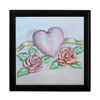 Heart with Roses Gift Box