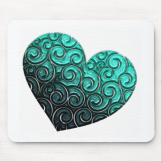 Heart with Swirls Mouse Pads