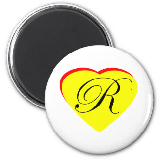 Heart Yellow Red R Wedding Invitation The MUSEUM Z Refrigerator Magnet