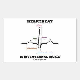 Heartbeat Is My Internal Music (ECG/EKG) Rectangular Sticker