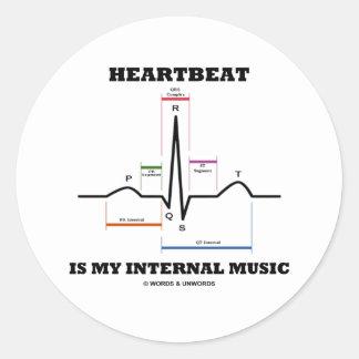 Heartbeat Is My Internal Music (ECG/EKG) Stickers