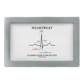 Heartbeat Leading Indicator Of Life (ECG/EKG) Rectangular Belt Buckles