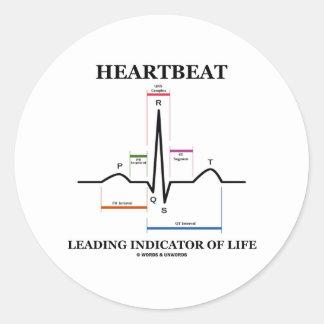 Heartbeat Leading Indicator Of Life Round Sticker