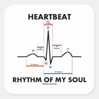 Heartbeat Rhythm Of My Soul ECG EKG Square Sticker