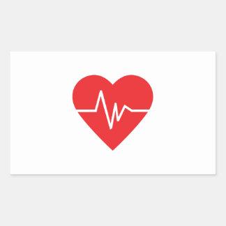 HEARTBEAT RECTANGULAR STICKER