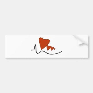 Heartbeats - Bumper Sticker Car Bumper Sticker