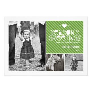 Heartfelt Fun Season s Greetings 3 Photo Card