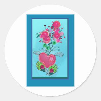 heartFLUERfly.jpg Round Sticker