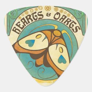 Hearts and Darts Art Nouveau Guitar Pick