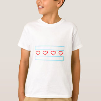 Hearts and Stripes Forever outline T-Shirt