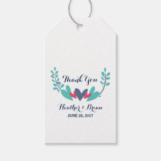 Hearts and Vines Wedding Gift Tags