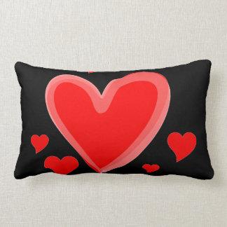 hearts throw cushion