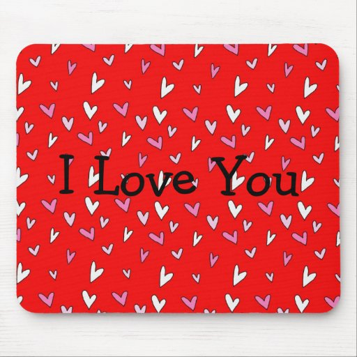 Hearts I Love You Mousepad