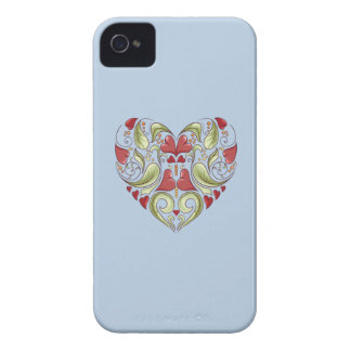 Hearts-In-Heart-On-Blue-Sky-Pattern iPhone 4 Covers